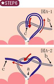 ゴムブレスレット作り方図006