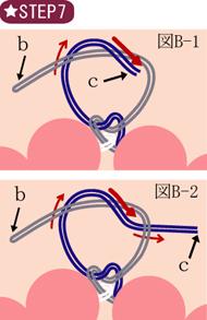 ゴムブレスレット作り方図007