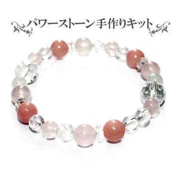 ピンクオパールとローズ゙クォーツとムーンストーンと水晶のブレスレット01